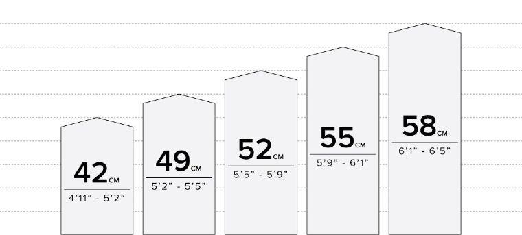 6KU Fixie Bike Size Chart