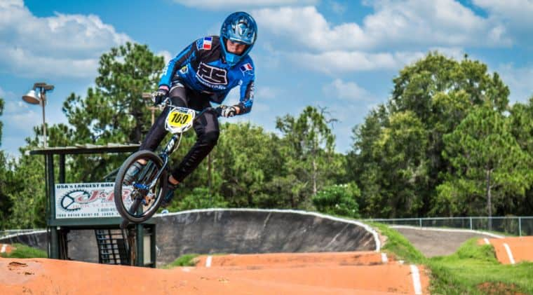 BMX bike in full action