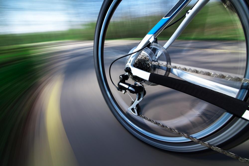 Road Bike Gears at the rear wheel